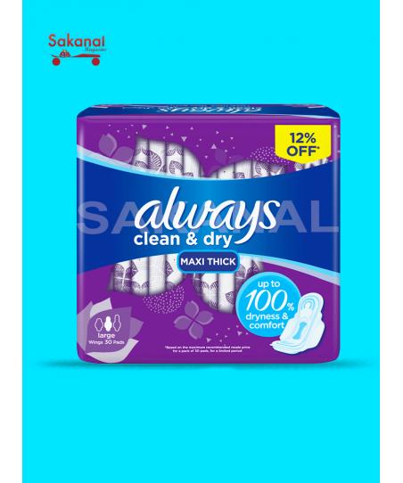 ALWAYS CLEAN ET DRY 100% 30PCS