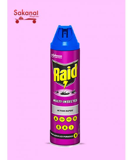 RAID MAUVE TOUS INSECTES 600ML