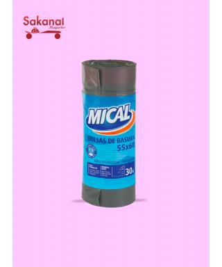 SAC POUBELLE GRIS MICAL 20X30L